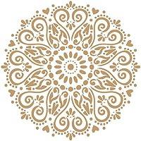 TODO STENCIL Deco Adamascado 072 Mandala, Medidas: Stencil 20 x 20 cm - Diseño