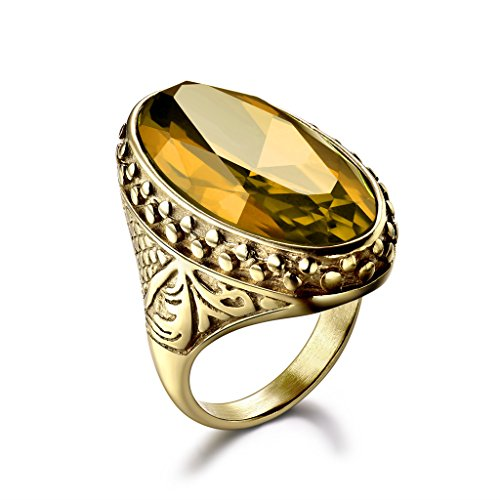 Crystal Yellow Ring - 6