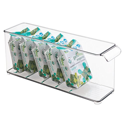 "mDesign Refrigerator, Freezer, Pantry, Cabinet Organizer Bin for Kitchen Storage - 14.5"" x 4"" x 5.75"", Clear"