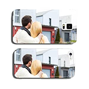Young happy couple in front of their new house cell phone cover case iPhone6 Plus