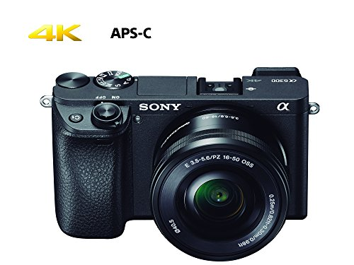 Sony ILCE-6300L Cámara Alpha Mirrorless con montura E APS-C CMOS 24.2mp, grabación 4K