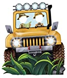 BirthdayExpress Jungle Room Decor - Jeep Cardboard Standup