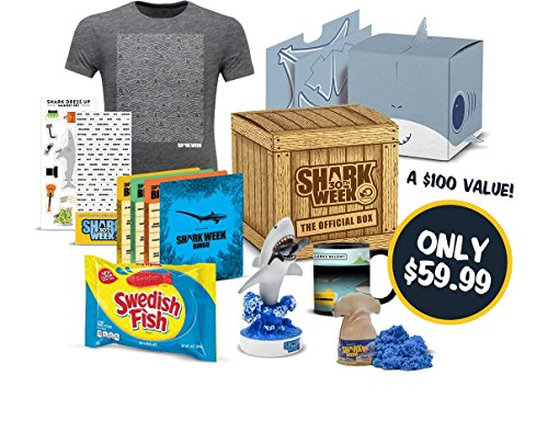 The Official Shark Week Box - Limited Edition Apparel, Collectibles, Games and More (XXL)
