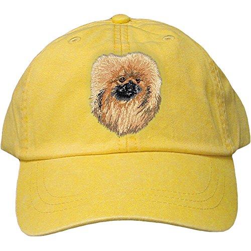 Cherrybrook Dog Breed Embroidered Adams Cotton Twill Caps - Lemon - Pekingese