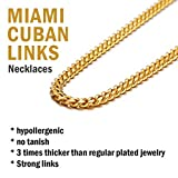 Gold Chains for Boys 24inch 6MM 18K Gold Filled