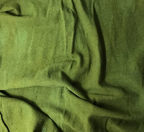 Avocado Green - Hand Dyed Silk Noil (Hand Dyed Silk Fabric)