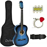 Best Choice Products Beginners Acoustic Guitar with Case, Strap, Tuner and Pick, Blue