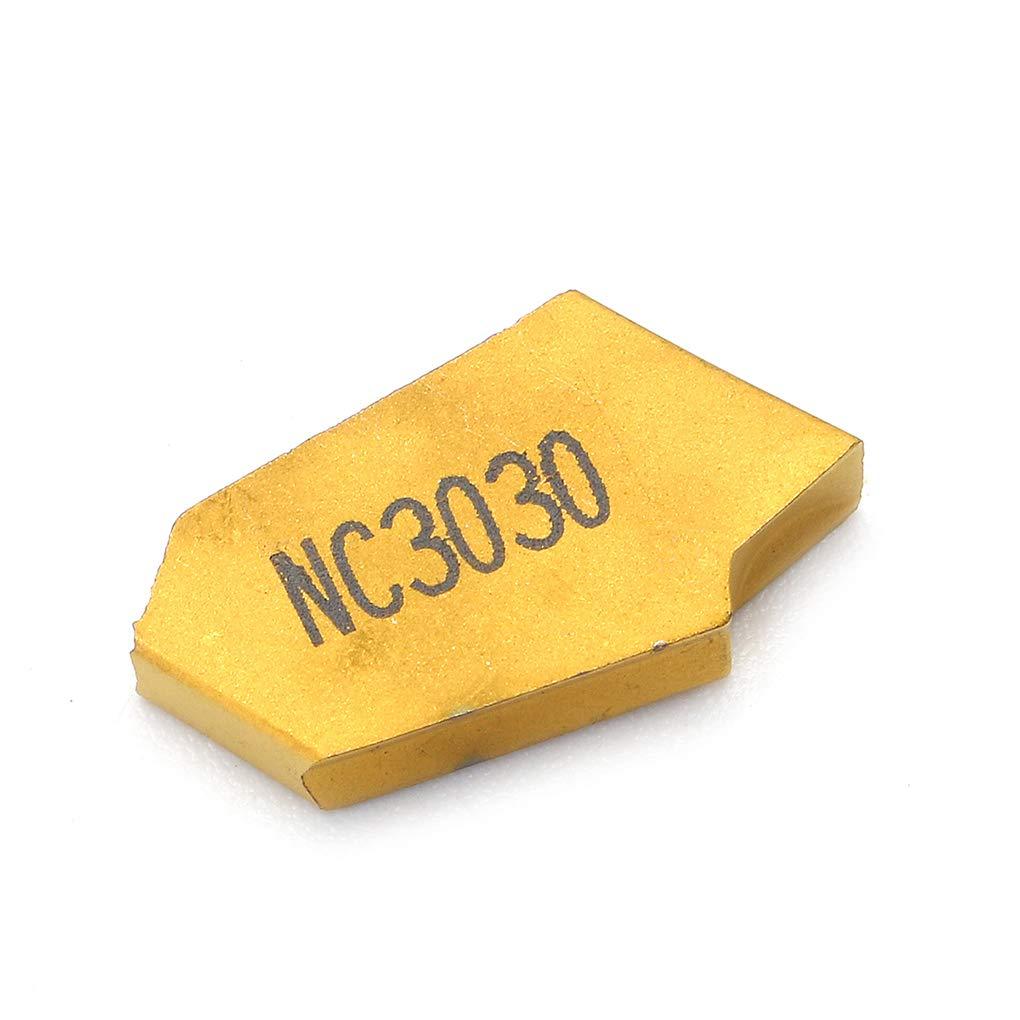 Zerama 10pcs 3 mm GTN3 rainurage Cut-Off Inserts CNC tron/çonner Conseils Inserts en carbure Partie Outils de Coupe