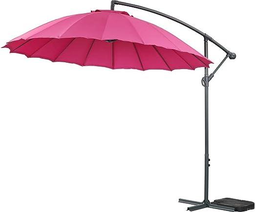 Parasol de Jardin ALU Lili 3 - Estilo japones - Ø3m - Rosado: Amazon.es: Jardín