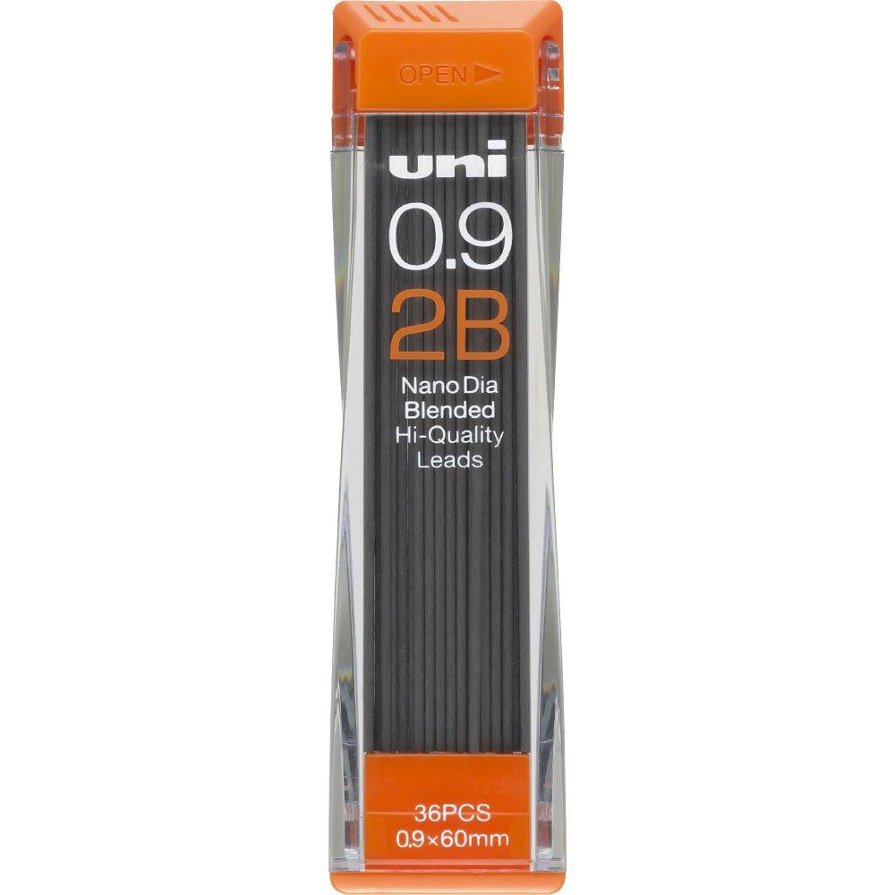 Uni Nanodia Machanical Pencil 0.9mm lead, 2B (U09202ND2B) 2B