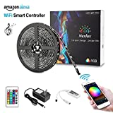 Nexlux LED Strip Lights, Wifi Wireless Smart Phone Controlled Light Strip Kit 16.4ft 150leds 5050 Waterproof IP65 LED Lights ,Working with Android and IOS System,Alexa, Google Assistant