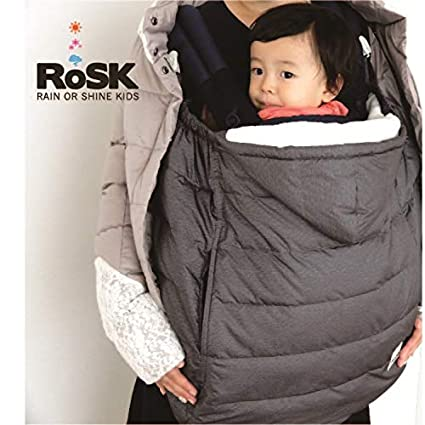 Smoky Black RoSK-Down Pouch 3way-Stroller,Carrier Cover and Car Seat Footmuff Best for Freezing Winter Conditions