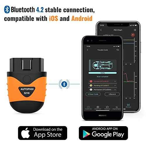AUTOPHIX 3210 Bluetooth OBD2 Enhanced Car Diagnostic Scanner for iPhone, iPad & Android, Fault Code Reader Plus Battery Tester Exclusive App for Quality-Newest Generation by AUTOPHIX (Image #1)