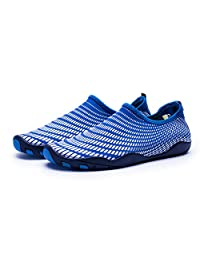 Unisex Upgraded Quick-Dry Aqua Socks Water Shoes with 14 Drainage Holes for Beach Swim Surf Yoga Water Aerobics