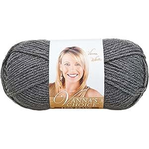 Lion Brand Yarn 860-151D Vanna's Choice Yarn, Charcoal Grey
