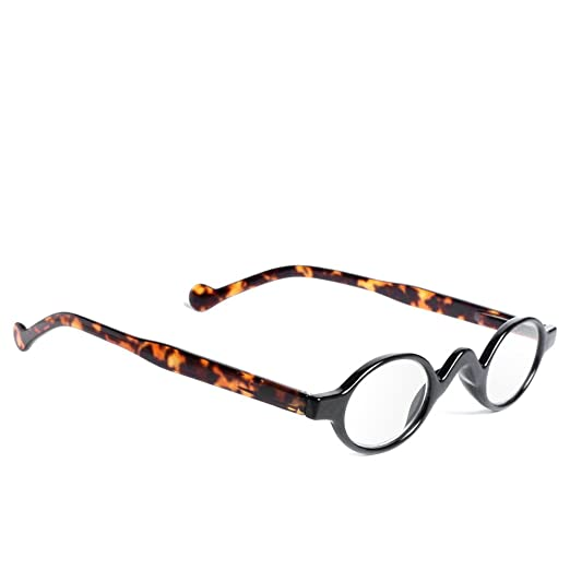 7402158a14f Retro Vintage Mini Small Round Frame Readers Men Womens Reading Glasses  (BKLP 1.5)