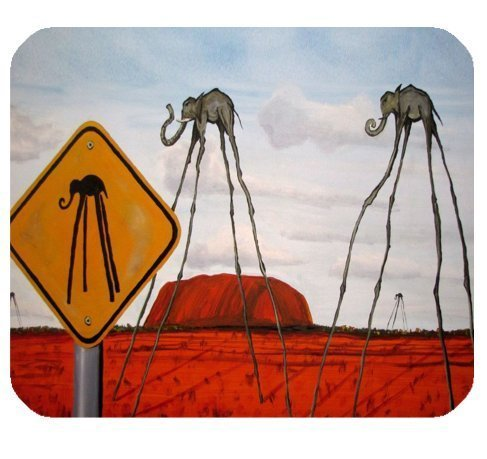 Echonie Famous Spanish Artist Salvador Dali Abstract Paintings Rubber Mouse Pad Mousepad (Dali Painting Abstract)