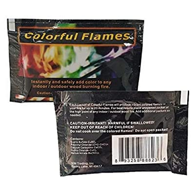 Mositto Multicolor Flame Powder Flame Dyeing Outdoor Bonfire Party Suppl Magic Kits & Accessories: Toys & Games
