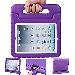 iPad case, iPad 2 3 4 Case, ANTS TECH Light Weight [ Shockproof ] Cases Cover with Handle Stand for Kids Children for iPad 2 & iPad 3 & iPad 4 (iPad 234, Purple)