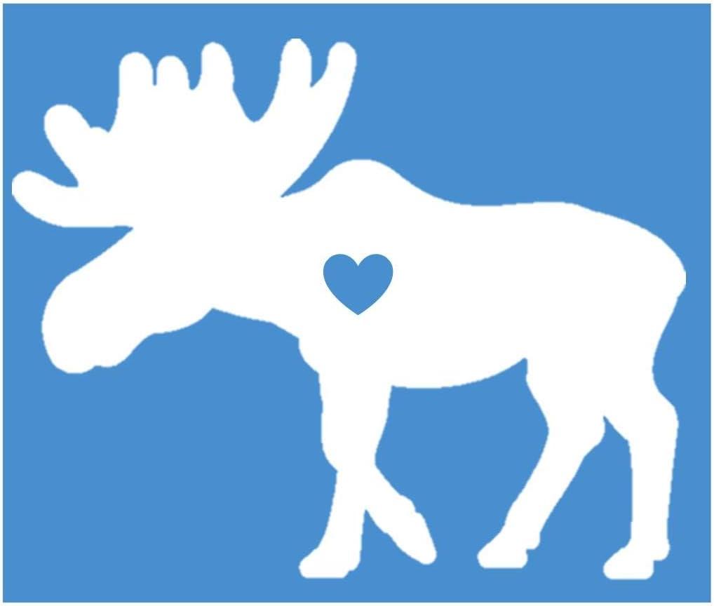 Amazon Com Ez Stik Moose Little Heart Sticker K950 6 Inch Decal Automotive [ 882 x 1023 Pixel ]