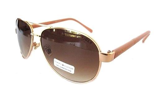 Amazon.com: Tommy Hilfiger Aviator anteojos de sol Tony mm ...