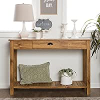 WE Furniture 48-inch Country Style Entry Console Table Barnwood