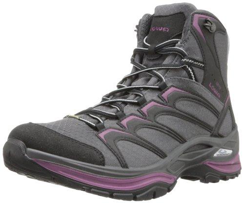 Lowa Women's Innox Goretex Mid Hiking Boot,Anthracite/Prune,6.5 M US