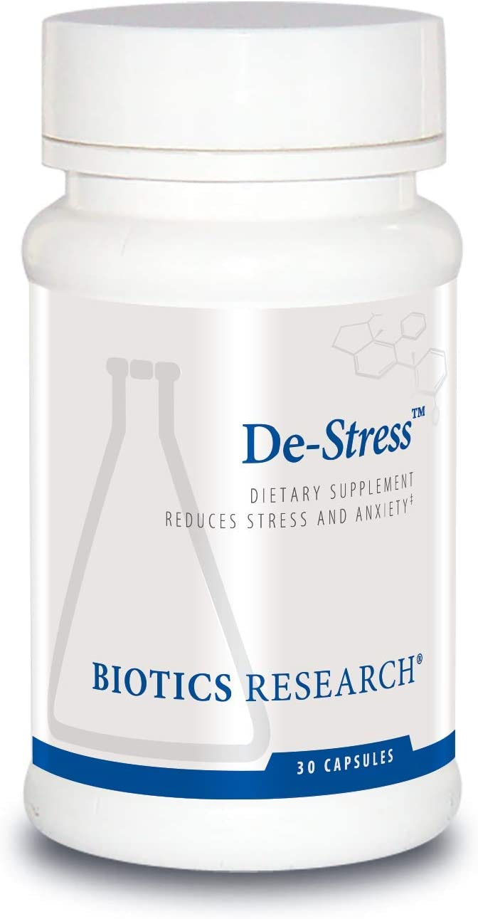 De-Stress The All-Natural Way to Reduce Stress 30 Capsules per Bottle.