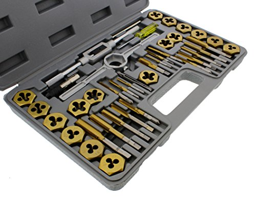 ABN Titanium Tap and Hexagon Die Set Metric - 40 Piece