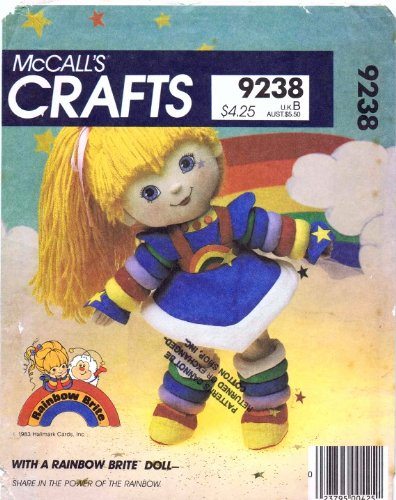 Uncut /& Factory Folded McCalls 9238 Crafts Sewing Pattern Rainbow Brite Rag Doll