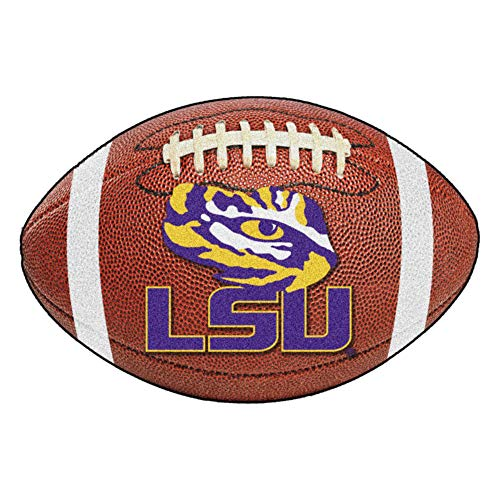 FANMATS NCAA Louisiana State University Tigers Nylon Face Football Rug