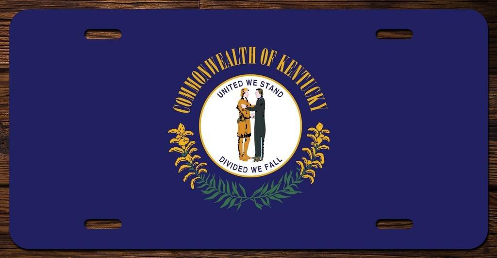 Delaware State Flag Vanity Front License Plate Tag Printed Full Color KCFP005