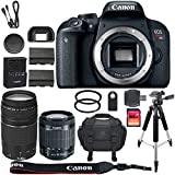 Canon EOS Rebel T7i DSLR Camera + 64GB SDXC Memory Card + Canon 18-55mm IS STM Lens + Canon 75-300mm III Lens + 64GB SDXC Memory Card + BackPack + Accessory Kit - International Version