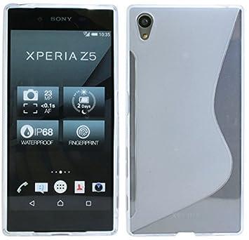 Sony Xperia Z5//Carcasa de Silicona Gel Goma Funda Cover ...