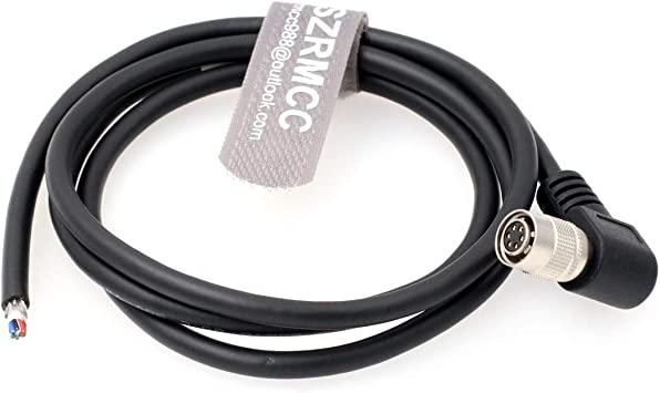 SZRMCC Hirose 12 pin Female to Open end Shield I//O and Power Cable for Basler Sony AVT GIGE Cameras Straight, 10m