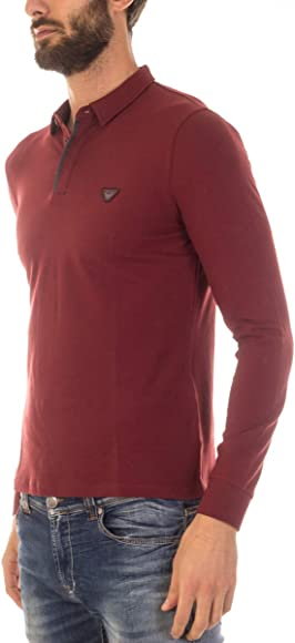ARMANI JEANS AJ - Polo para Hombre 6X6F166JPTZ Burdeos M: Amazon ...