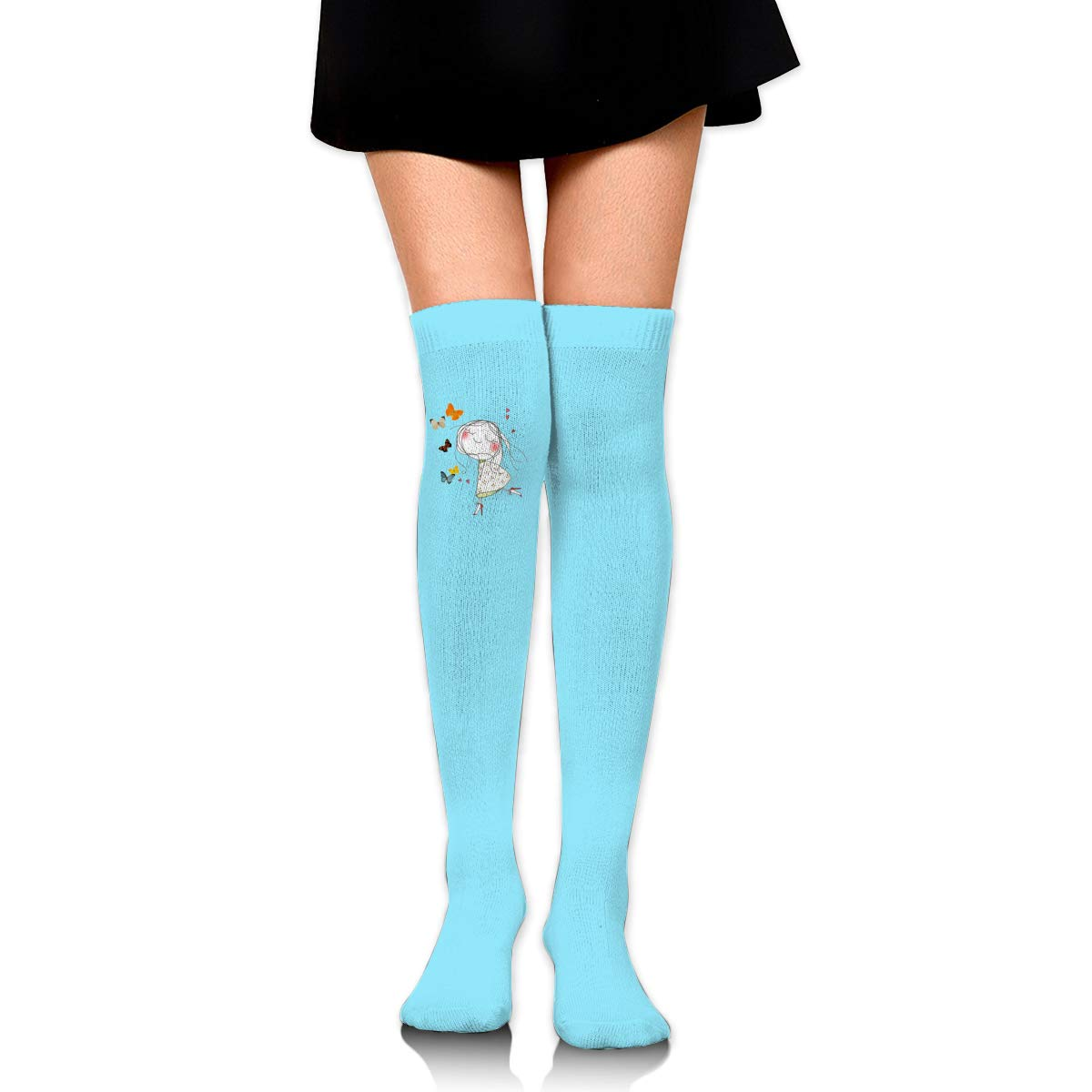Cute Girls Long Tight Thigh High Socks Over The Knee High Boot Stockings Leg Warmers