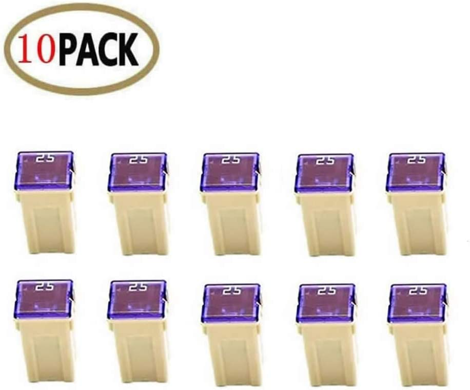 and Toyota Pickup Trucks 10 Pc Automotive TALL//STANDARD PROFILE JCASE Fuse 25 Amp Fuse Kit for Ford Nissan Cars and SUVs Chevy//GM