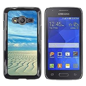 Smartphone Rígido Protección única Imagen Carcasa Funda Tapa Skin Case Para Samsung Galaxy Ace 4 G313 SM-G313F Sandy beach / STRONG