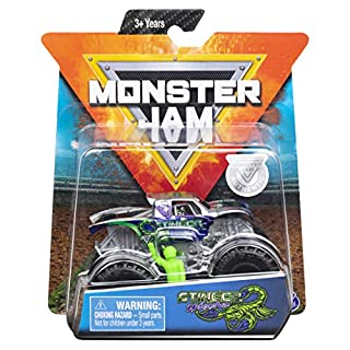 MJ Monster Jam 1:64 Scale Stinger Unleashed with 1 Figure