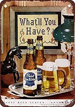 1951 Pabst Blue Ribbon Beer Vintage Look Reproduction, used for sale  Delivered anywhere in USA