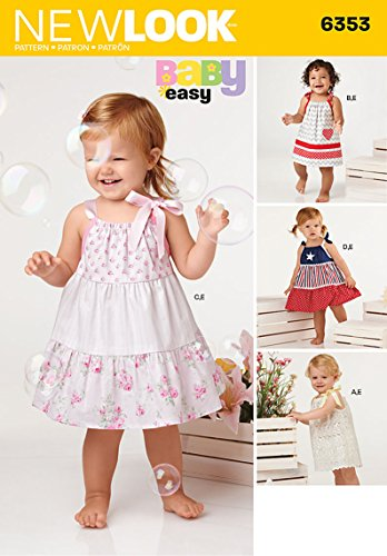 - Simplicity Vintage New Look Patterns UN6353A Babies' Dresses and Panties, A (NB-S-M-L)