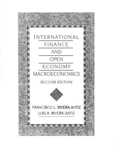 International Finance and Open Economy Macroeconomics (2nd Edition)