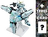 RX-0 Unicorn Gundam (Final Battle Ver): Gundam Fix Figuration Metal Composite Action Figure + 1 FREE Official Japanese Gundam Trading Card Bundle