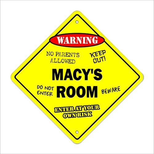Macy's Room Sign Crossing Zone Xing | Indoor/Outdoor | 14