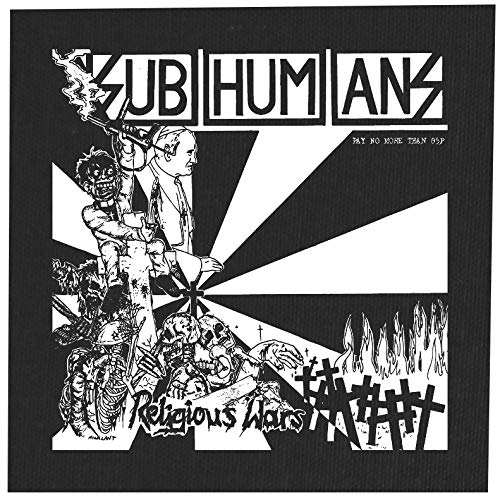 Subhumans Back Patch - Amebix Anarcho Antisect Aus-Rotten Black Flag Citizen Fish Crass Crust D-Beat Dead Kennedys Dirt Icons of Filth Leftover Crack Misery Punk The Exploited Flux of Pink Indians