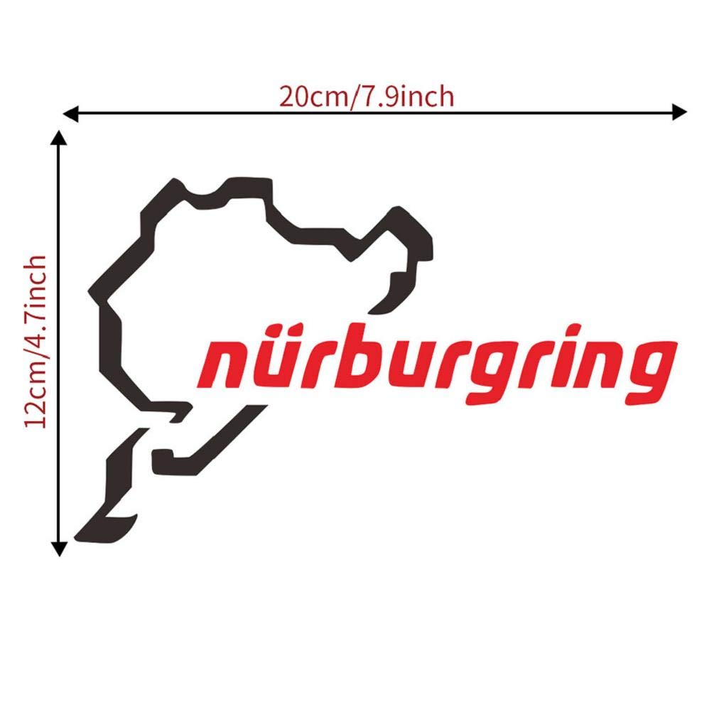 Pegatina Impermeable Universal Fit for Cars SUVs Truckss Motorcycles Koojawind/ Racing Track Nurburgring Sticker Divertido Vinilo para Coche Illest Sign Vinyl 20 x 12cm