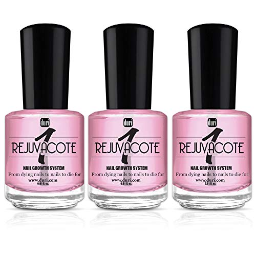 duri Rejuvacote 1 Original Maximum Strength Nail Growth System, Base and Top Coat, 3 Pack, 0.61 fl.oz. Each (Best Nail Polish Colors For February)