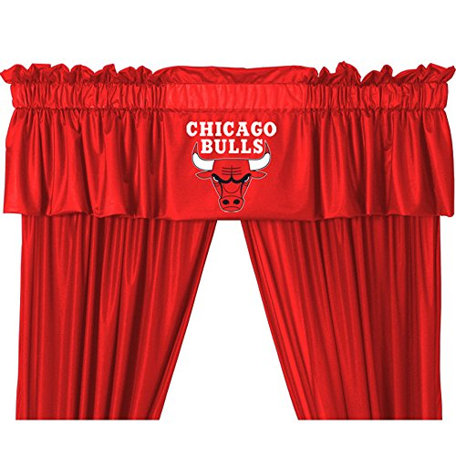 NBA Chicago Bulls Valance, Bright Red, One Size (Chicago Bulls Room Decor)