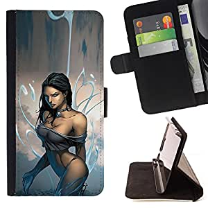 - Queen Pattern FOR LG Nexus 5 D820 D821 /La identificaci????n del cr????dito ranuras para tarjetas tir????n de la caja Cartera de cuero cubie - sexy legs water black haired beaut
